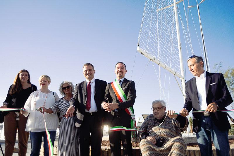 Inaugurata la Vela di Tinin al porto LE FOTO