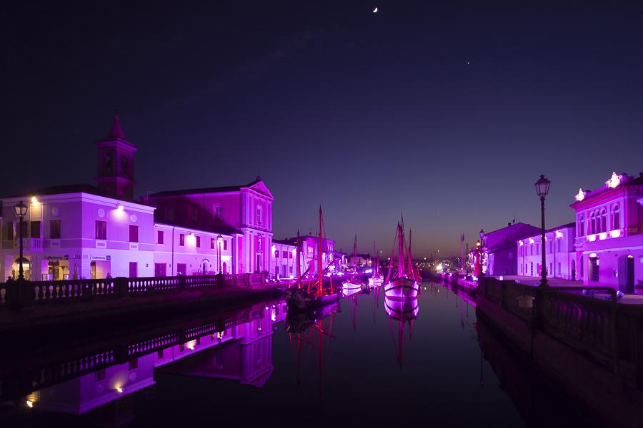 porto canale cesenatico rosa