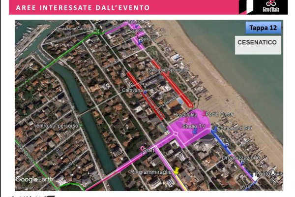 giro italia viabilita traffico Cesenatico