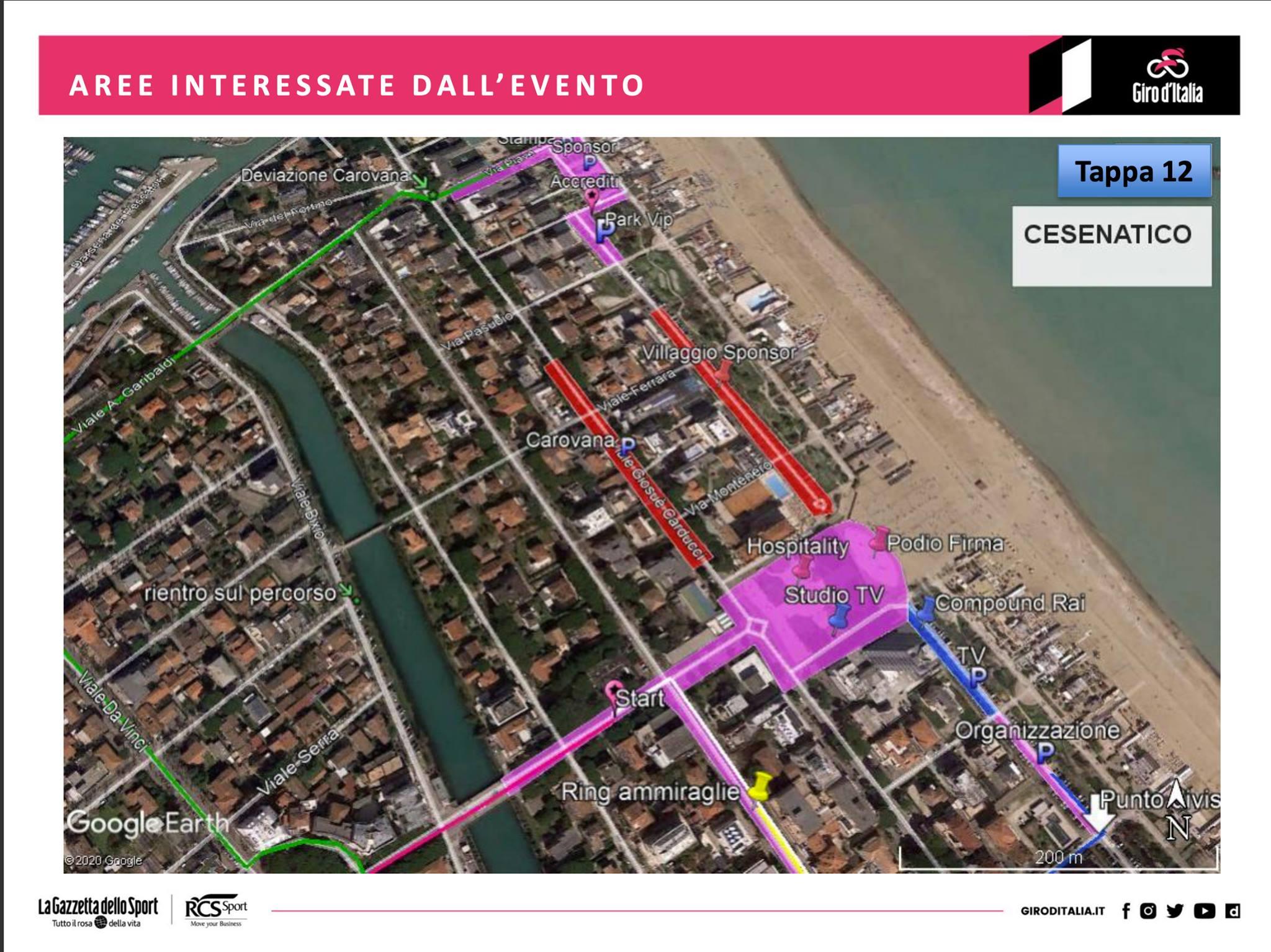 Giro d'Italia, le modifiche alla viabilità a Cesenatico