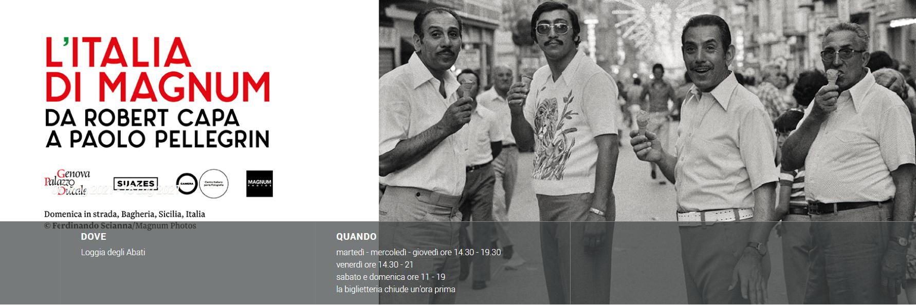 Foto di Cesenatico nella mostra della Magnum