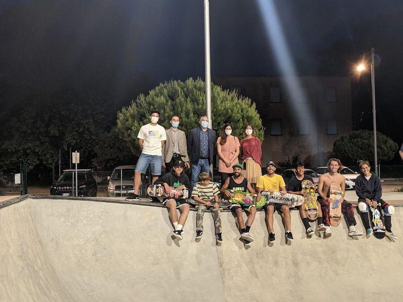 Terminati i lavori allo skatepark: in funzione la nuova illuminazione